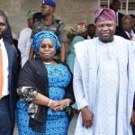 Lagos State Governor, Mr. Akinwunmi Ambode (2nd right); Deputy Governor, Dr. (Mrs.) Oluranti Adebule (2nd left); Chairman,Employment Trust Fund (ETF), Mrs. Ifueko Omoigui-Okauru (right) and Executive Secretary, ETF, Mr. Akintunde Oyebode (left)