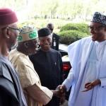 President Muhammadu Buhari, Vice President Prof Yemi Osinbajo, APC Chieftain and Former Governor of Lagos State, Senator Bola ahmed Tinubu and APC National Chairman, Chief John Odigie-Oyegun