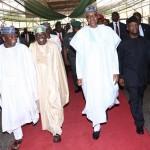 The Vice President Prof Yemi Osinbajo, President Muhammadu Buhari, APC Chieftain and Former of Lagos Senator Bola Tinubu and Chairman Governor Forum and Zamfara State Governor, Alhaji Abdulaziz Abubakar Yari