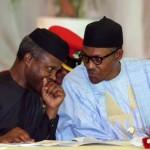 R-L;  President Muhammadu Buhari and Vice President Prof Yemi Osinbajo