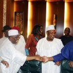 L-R; Governor of Zamfara State, Abdulaziz Yari, Sokoto State Governor, Rt hon Aminu Tambuwal, Minister of Finance, Mrs Kemi Adosun, Kebbi State Governor, Senator Abubakar Atiku Bagudu and Lagos State Governor, Mr Akinwunmi Ambode