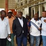 R-L: Lagos State Governor, Mr. Akinwunmi Ambode (2nd left), Special Adviser on Food Security, Mr. Ganiu Okanlomo Sanni; Commissioner for Agriculture, Hon. Toyin Suarau; Special Adviser on Commerce, Hon. Adeyemi Olabinjo