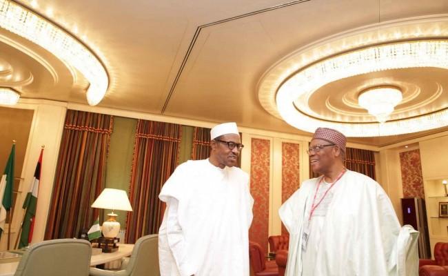 President Muhammadu Buhari receives Chief Don Etibet