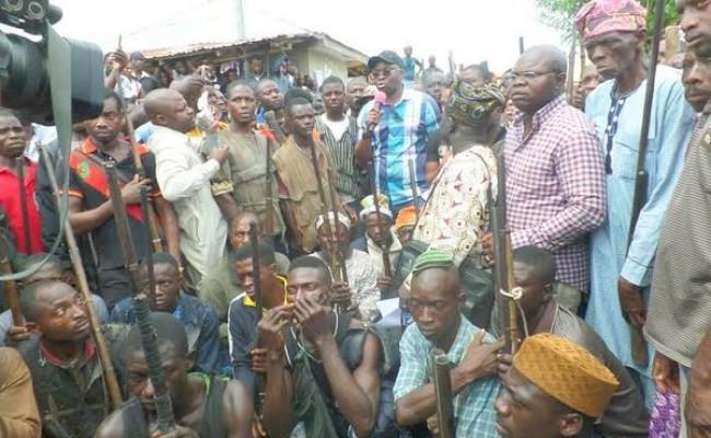 1-Fayose with Ekiti hunters