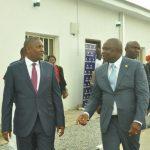 Lagos State Governor, Mr. Akinwunmi Ambode (right), with Chairman, Dangote Group, Alhaji Aliko Dangote