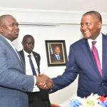 Lagos State Governor, Mr. Akinwunmi Ambode (left), with Chairman, Dangote Group, Alhaji Aliko Dangote