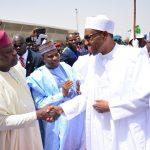 L-R: Lagos State Governor, Mr. Akinwunmi Ambode, with Sokoto State Governor, Rt. Hon. Aminu Tambuwal; President Muhammadu Buhari and Katsina State Governor, Rt. Hon. Aminu Masari