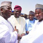 L-R: Lagos State Governor, Mr. Akinwunmi Ambode (2nd left); Zamfara State Governor, Alhaji Abdulaziz Yari; his Sokoto and Katsina States counterparts, Governors Aminu Tambuwal and Aminu Masari