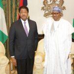 R-L; President Muhammadu Buhari receives President Ecowas Commission, H.E. Marcel A. DE Souza