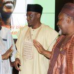 R-L; Jigawa State Governor Alhaji. Mohammed Baderu Abubakar,  Kwara State Governor, Alhaji Abdulfatah Ahmed and Governor of Zamfara State and Chairman Nigeria Governors Forum, Alhaji Abdulazzi Yari