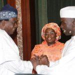 R-L; Deputy Governor of Kaduna State, Mr. Bala Bantex, Deputy Governor of Lagos State, Mrs. Dr. Idiat Oluranti Adebule and Deputy Governor of Oyo State, Hon Moses Alake Adeyemo