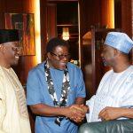 L-R;  Kwara State Governor, Alhaji Abdulfatah Ahmed, Deputy Governor of Imo State, Prince Eze Madumere and Governor of Gombe State, Alhaji Ibrahim DanKwambo