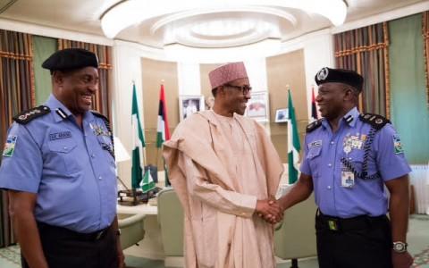 Buhari with Arase, Idris