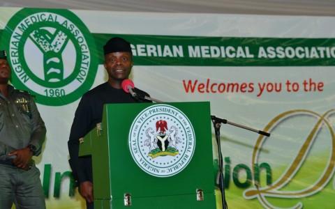 Vice  President  (Prof.) Yemi  Osinbajo  Delivering  his  Speech