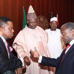 R-L; Vice President Prof Yemi Osinbajo, Kebbi State Governor, Senator Abubakar Atiku Bagudu, Ogun State Governor, Senator Ibikunle Amosu,  and Anambra State Governor, Chief Willy Obiano