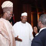 R-L; Vice President Prof Yemi Osinbajo, Kebbi State Governor, Senator Abubakar Atiku Bagudu and Goun State Governor, Senator Ibikunle Amosu