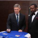 Nicolaas Vervelde, MD Nigeria Breweries and Shehu Dikko, Chairman, League Management Company