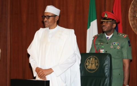 L-R; President Muhammadu Buhari presides over Federal Executive Council meeting (FEC)