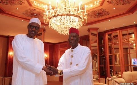 President Buhari and HRM King G.N.K. Gininwa