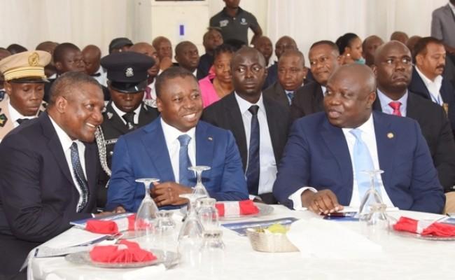 R-L: Lagos State Governor, Akinwunmi Ambode, with President of Togo, Mr. Faure Gnassingbe and President, Dangote Group, Alhaji Aliko Dangote