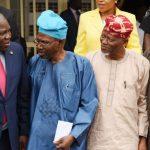 L-R: Lagos State Governor, Mr. Akinwunmi Ambode; Representatives of Victoria Island/Ikoyi Residents Associations (VIIRA), Dr. Ishola Salami; Alhaji Abdul-Lateef Muse and Sole Administrator, Ikoyi/Obalende LCDA, Mr. Goke Ona-Olawale