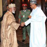 President Muhammadu Buhari receives former Head of State General Abdulsalami Abubakar