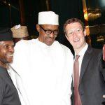 Buhari, Prof Yemi Osinbajo and Mark Zuckerberg
