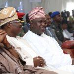 R-L: President Muhammadu Buhari ; Lagos, Oyo and Borno States Governors, Mr. Akinwunmi Ambode; Sen. Abiola Ajimobi and Alhaji Ibrahim Shettima