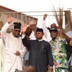 R-L: Lagos State Governor, Mr. Akinwunmi Ambode (2nd right); Minister of Labour & Employment, Dr. Chris Ngige; Governors of Adamawa; Niger & Kebbi States; Sen. Bindo Jibrilla; Abubakar Sani Bello and Alhaji Atiku Bagudu