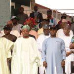 R-L: Lagos State Governor, Mr. Akinwunmi Ambode (2nd right); Minister of Labour & Employment, Dr. Chris Ngige; Governors of Kogi; Kebbi; Sokoto & Kaduna States; Mr. Yahaya Bello; Alhaji Atiku Bagudu; Alhaji Aminu Tambuwal and Malam Nasir El-Rufai