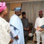 L-R: Wife of Lagos State Governor, Mrs. Bolanle Ambode; her husband, Mr. Akinwunmi Ambode; Vice President, Prof. Yemi Osinbajo; APC National Leader, Asiwaju Bola Tinubu and his Wife, Senator Oluremi  Tinubu