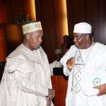 Kastina State Governor, Rt Hon  Aminu Masari and Sokoto State Governor, Rt Hon Aminu Tambuwal