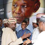 L-R; Lagos State Governor, Akinwunmi Ambode, Kaduna State Governor Mallam Nasiru El-Rufai and Sokoto State Governor, Rt hon Aminu Masari