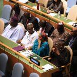 President Mihammadu Buhari with Minister of Interior Lt General Abdulrhman Dambazau, Minister of Environment, Hajiya Amina Mohammed, Governor of Zamfara State, Alhaji Abdulaziz Yari, Governor of Lagover State, Mr Akinwumi Ambode and other Ministers