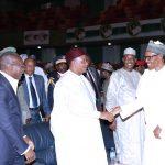 R-L;  President Muhammadu Buhari, President of Tchad, Idriss Deby, President of Niger Mr Mahamadou Issoufou and President of Benin Republic, Mr Patrice Talon