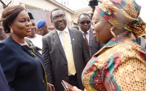 Representative of Lagos State Governor & Deputy Governor, Dr. (Mrs.) Oluranti Adebule (right), with President, Nigerian Guild of Editors (NGE), Funke Egbemode (left) and Commissioner for Information & Strategy, Mr. Steve Ayorinde (middle)
