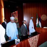 President Muhammadu Buhari, Vice President Prof Yemi Osinbajo, SGF, Engr Babachir David Lawal and Chief of Staff, Mallam Abba kyari