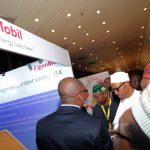 President Muhammadu Buhari visit to ExxonMobil stand