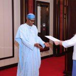 President Muhammadu Buhari receives The New Sweden Ambassador to Nigeria, H.E Mrs Inger Ultvedt