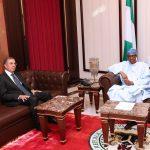 President Muhammadu Buhari Chats with the New Tunisia Ambassador to Nigeria, H.E Jalel Trabelsi