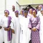 L-R: Lagos State Governor, Mr. Akinwunmi Ambode; his wife, Bolanle; Oyo State Governor, Senator Abiola Ajimobi; Vice President, Prof. Yemi Osinbajo; his wife Dolapo; Osun State Governor, Ogbeni Rauf Aregbesola and his wife, Alhaja Sherifat