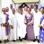 L-R: Lagos State Governor, Mr. Akinwunmi Ambode; his wife, Bolanle; Oyo State Governor, Senator Abiola Ajimobi; Vice President, Prof. Yemi Osinbajo; his wife Dolapo; Osun State Governor, Ogbeni Rauf Aregbesola; his wife, Alhaja Sherifat and Wife of Oyo State Governor, Mrs. Florence Ajimobi
