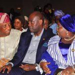 0693 R-L: Representative of Lagos State Governor & Deputy Governor, Dr. (Mrs.) Oluranti Adebule; Executive Secretary /CEO, Lagos State Security Trust Fund (LSSTF), Dr. Abdurrazaq Balogun and Secretary to the State Government, Mr. Tunji Bello