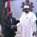 R-L; President Muhammadu Buhari receives President Elect of the Republic of Ghana, Mr. Nana Akufo-Addo