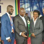 L-R: Lagos State Governor, Mr. Akinwunmi Ambode (middle), with Board members of the  Lagos State Employment Trust Fund (LSETF), Mrs. Bilkiss Adebiyi-Abiola; Executive Secretary, Mr. Akintunde Oyebode; Chairman, Mrs. Ifueko Omoigui-Okauru and Mr. Dele Martins
