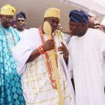 R-L: Lagos State Governor, Mr. Akinwunmi Ambode; Ooni of Ife, Oba Adeyeye Enitan Ogunwusi, Ojaja II and Obalufe of Ife, Oba Idowu Adediwura