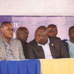 Lagos State Governor, Mr. Akinwunmi Ambode (2nd right), with Deputy Speaker, Lagos State House of Assembly, Hon. Wasiu Eshinlokun Sanni (2nd left); Secretary to the State Government, Mr. Tunji Bello (left) and Chairman, Mrs. Ifueko Omoigui-Okauru (right)