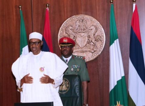 R-L; President Muhammadu Buhari