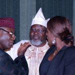 L-R; Minister of Mines and Steel Development, Dr Kayode Fayemi, Minister of Communications Baisster Adebayo Shittu and Minister of Finance, Mrs Kemi Adeosun