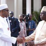 L-R; President Muhammadu Buhari bids farwell to the President of Senegal H.E Macky Sall